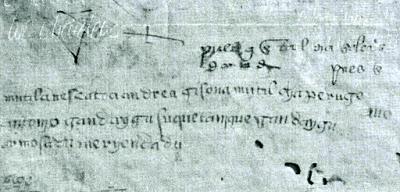 manuscrito con frases en euskera