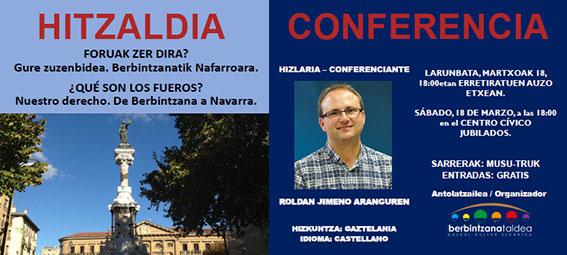 Conferencia en Berbintzana