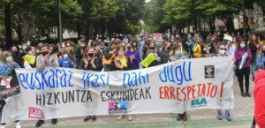 Manifa sindicatos Euskara